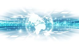 Vector digital global technology concept, abstract background Stock Images