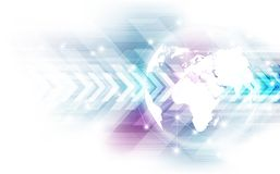 Vector digital global technology concept, abstract background Stock Photography