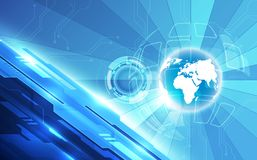 Vector digital global technology concept, abstract background Royalty Free Stock Images