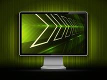 Vector digital LCD monitor Royalty Free Stock Image