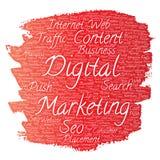 Vector  digital marketing seo traffic paint brush Stock Image