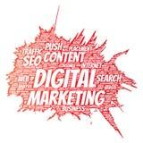 Vector digital marketing seo traffic paint brush Stock Photo