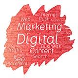 Vector digital marketing seo traffic paint brush Stock Photos