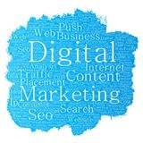 Vector digital marketing seo traffic paint brush Royalty Free Stock Photography
