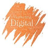 Vector digital marketing seo traffic paint brush Royalty Free Stock Photo