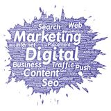 Vector digital marketing seo traffic Stock Images