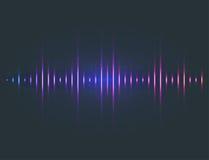 Vector digital music equalizer audio waves design template audio signal visualization signal illustration. Stock Images