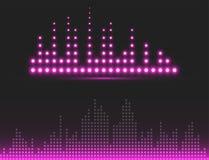 Vector digital music equalizer audio waves design template audio signal visualization signal illustration. Stock Photos