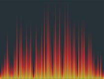 Vector digital music equalizer audio waves design template audio signal visualization signal illustration. Royalty Free Stock Image