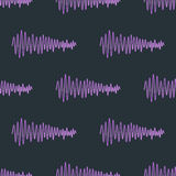 Vector digital music equalizer audio waves seamless pattern design template audio signal visualization signal Stock Photo