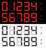 Vector digital numbers Stock Images