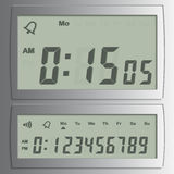 Vector digital numbers. Detailed illustration of a digital  numbers on a LED-Digits Stock Images