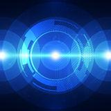 Vector digital sound wave technology, abstract background Stock Image