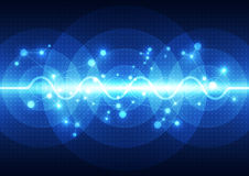 Vector digital sound wave technology, abstract background. Illustration innovation Royalty Free Stock Photography