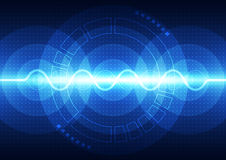Vector digital sound wave technology, abstract background stock illustration