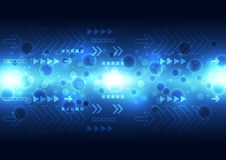 Vector digital speed technology, abstract background. Illustration Stock Photos