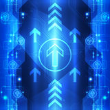 Vector digital speed technology, abstract background illustration Royalty Free Stock Images