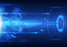 Vector digital speed technology, abstract background. Illustration innovation Royalty Free Stock Photography