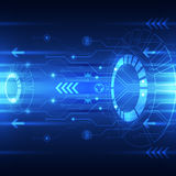 Vector digital speed technology, abstract background Stock Images