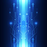 Vector digital speed technology, abstract background Stock Photography