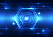 Vector digital technology concept, abstract background. Innovation Stock Illustration