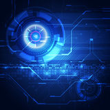 Vector digital technology concept, abstract background Royalty Free Stock Images