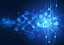 Vector digital technology concept, abstract background Stock Photos