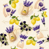 Vector digital watercolor provance style. Vector vintage illustration. Provance Royalty Free Stock Image