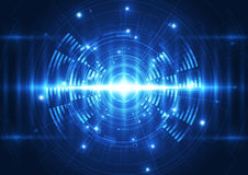 Vector digital wave technology future, abstract background Stock Image