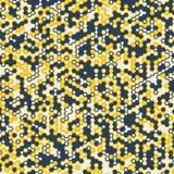 Vector digitale achtergrond van zeshoeken Royalty-vrije Stock Afbeeldingen