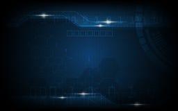 Vector digitale astratto e ciao fondo del modello di tecnologia Fotografie Stock