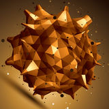 Vector digitale 3d Abstraktion, geometrisches Element des Gitters Stockfoto