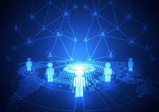 Vector digitale globale communicatietechnologie, abstracte achtergrond Royalty-vrije Stock Afbeelding