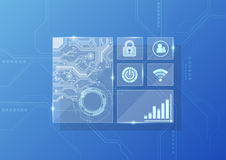 Vector digitale technologieinterface, abstracte achtergrond Royalty-vrije Stock Fotografie