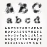 Dimly line font Royalty Free Stock Images
