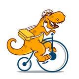 Vector dino bicycle vector illustration