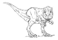 Vector - dinosaur Royalty Free Stock Images