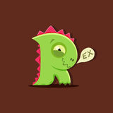 Vector dinosaur rex in cute kids style. Letter R. Stock Image