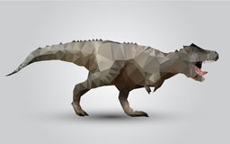 Vector dinosaur stylized triangle polygonal model Royalty Free Stock Photography