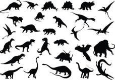 Vector dinosaurussen Stock Foto's