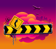 Vector direction arrow sign Stock Image