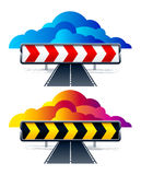 Vector direction arrow signs Royalty Free Stock Image
