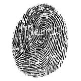 Vector dirty fingerprint Royalty Free Stock Photos