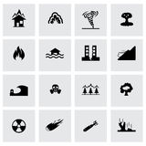Vector disaster icon set Stock Images
