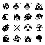 Vector Disaster icon set Stock Photography