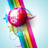Vector disco ball Royalty Free Stock Images