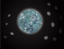 Vector disco ball background Royalty Free Stock Image