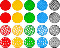 Vector disco ball collection Stock Image