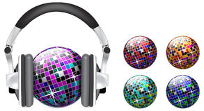 Vector Disco Ball On White Background Stock Photography