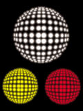 vector disco ball set Royalty Free Stock Photography